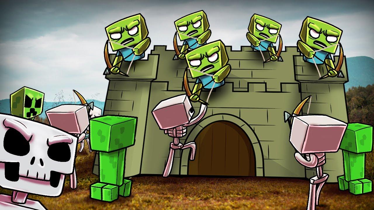 Minecraft 500 skeletons vs 500 creepers vs 500 zombies - Minecraft zombie vs creeper ...
