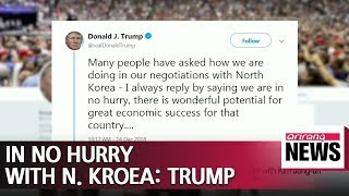 U.S. in no hurry in negotiations with N. Korea: Trump