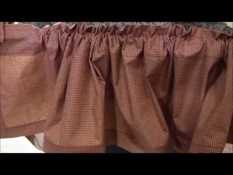 Valance - How to Sew a Valance with Ruffled Top