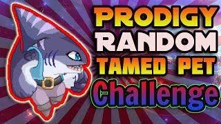 I tried the RANDOM PET CHALLENGE in Prodigy Math Game