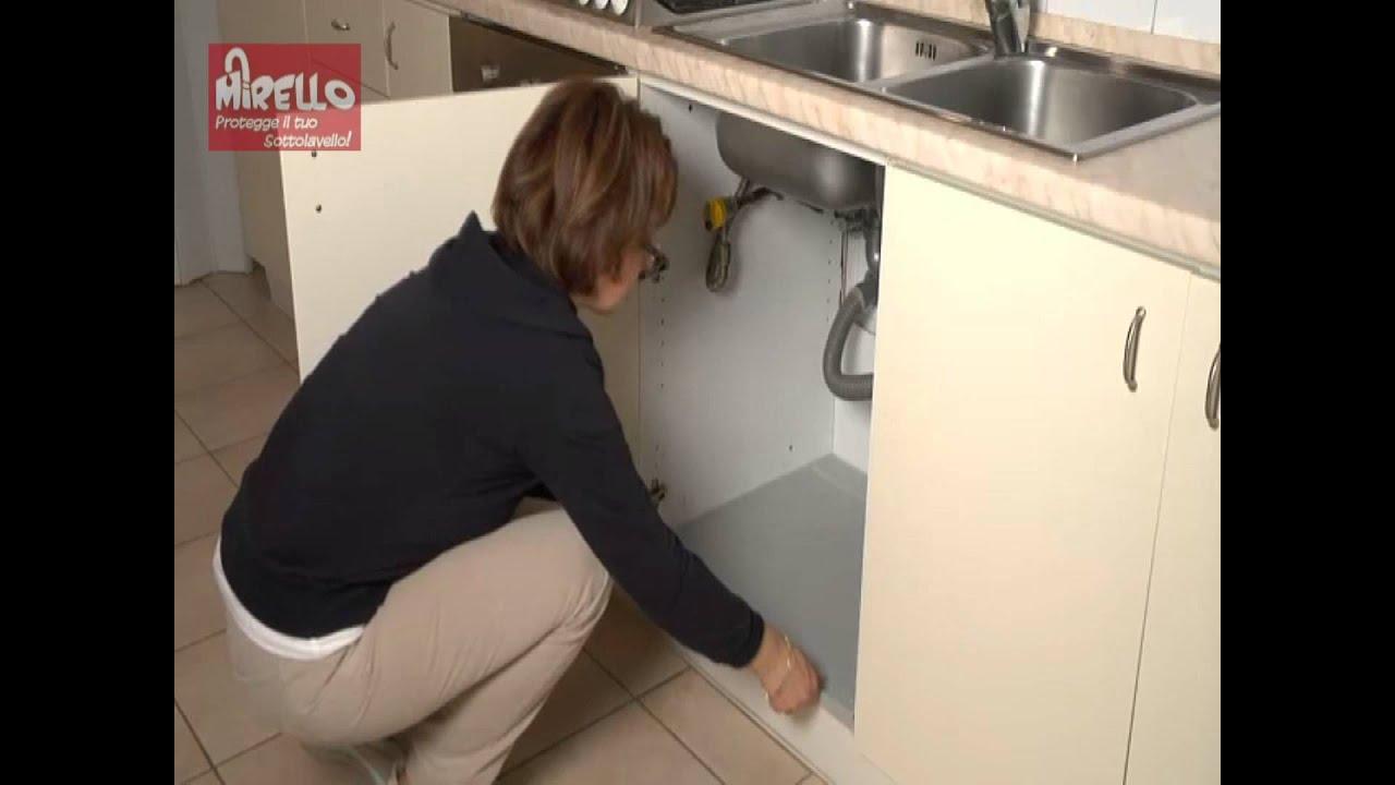 Ordine e pulizia sulla base del lavello con Mirello