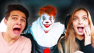 SCARING MY FRIENDS AS PENNYWISE!!