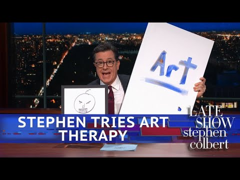 Download Youtube: Stephen Colbert Goes To Art Therapy