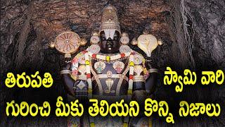 Video Unknown Facts about Tirupati Venkateswara Swami | Tirumala Temple Secrets download MP3, 3GP, MP4, WEBM, AVI, FLV Januari 2018