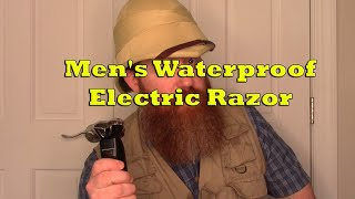 Men's Waterproof Electric Razor Product Demo