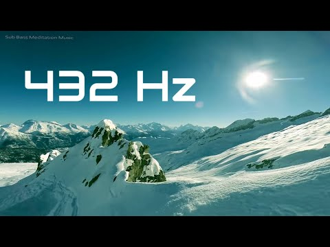 432 Hz Healing Music with Sub Bass Pulsation, Relaxing Meditation Music for Stress Relief