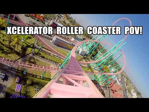 Xcelerator Roller Coaster POV Knott's Berry Farm California HD 2014