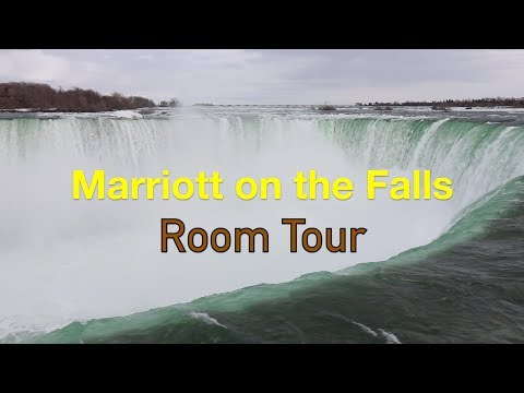 Marriott On The Falls Room Tour 2 Queen Beds Niagara Falls (Spring Vlog #2)