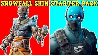 *NEW* SNOWFALL SKIN + STARTER PACK SKIN! | All Vaulted Items! | Fortnite Battle Royale!