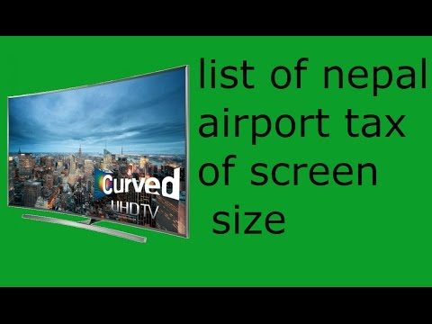 list of Nepal airport tax of screen