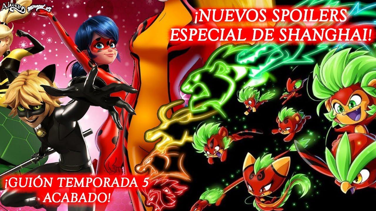 ¡GUIÓN TEMPORADA 5 ACABADO Y NUEVOS SPOILERS DEL ESPECIAL DE SHANGHAI!   Miraculous LadyBug   HD
