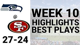 Seahawks vs 49ers Highlights Week 10 | NFL 2019
