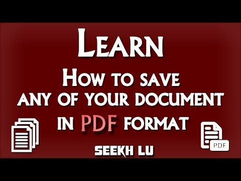 Save any of your document in PDF format ( Step by step complete tutorial ) | Seekh lu
