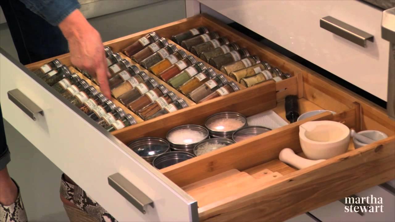 Kitchen Storage Solutions Lights Over Sink Organize Your Drawers For Maximum - Martha Stewart ...