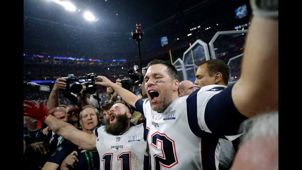 Patriots celebrate Super Bowl win over Rams