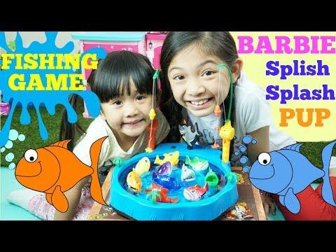 FISHING GAME Gone Fishin' And Barbie Splish Splash Pup