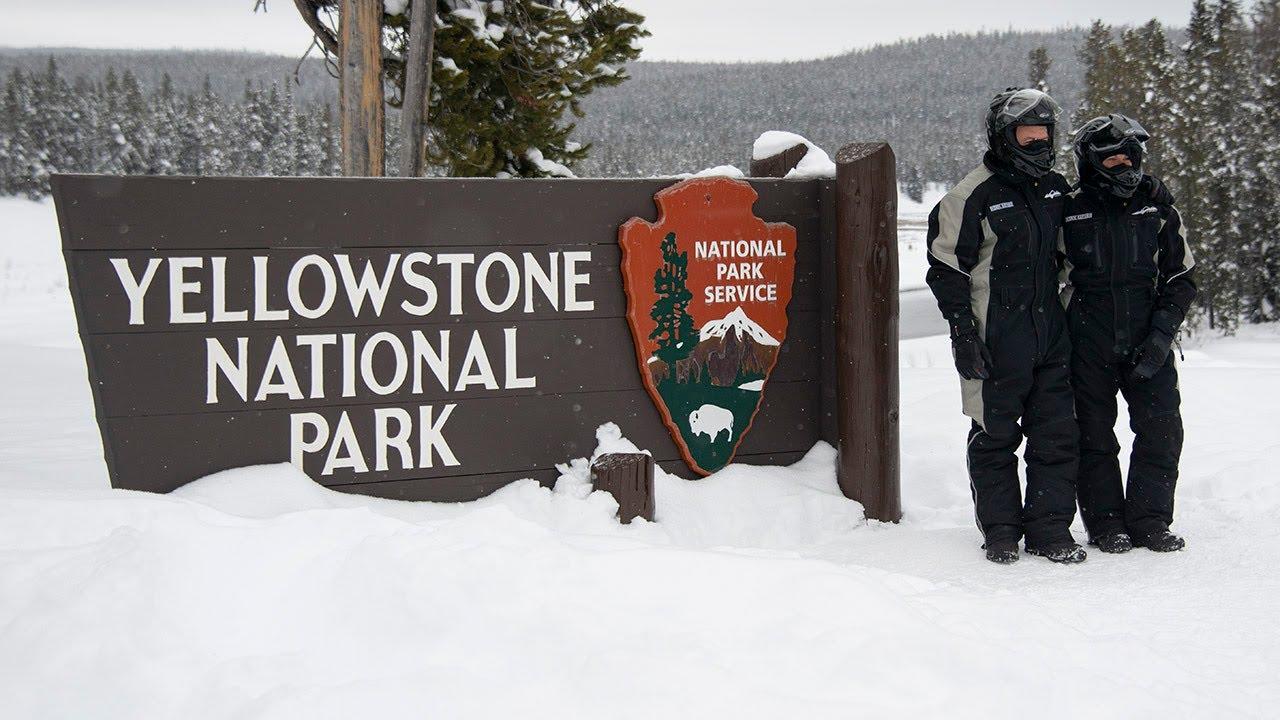 Snowmobiling Through Yellowstone National Park