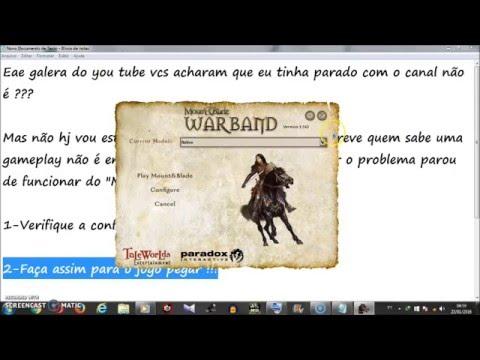 Como Resolver O Problema Parou De Funcionar Mount & Blade Warband