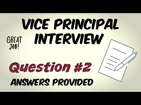 Vice Principal Interview Question 2 Of 10