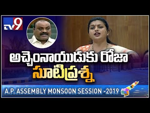 Roja on Pasupu Kumkuma scheme in AP Assembly - TV9