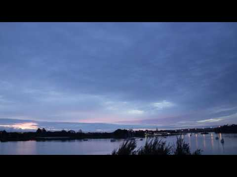 Timelapse of sunset over the Waitemata Harbour