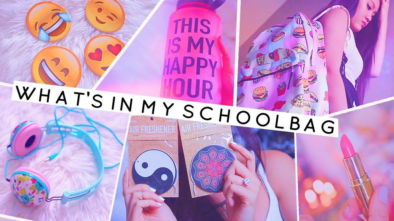 What 39 s in my school bag back to school supplies room for Room decor haul