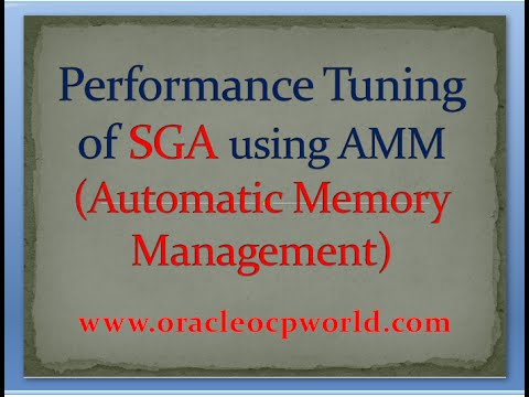 Performance Tuning of SGA using AMM in oracle 11gR2