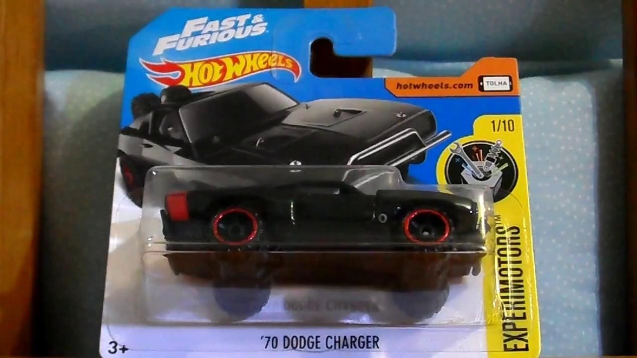 2017 Dodge Charger >> DODGE CHARGER ´70 RAPIDO Y FURIOSO (TARJETA CORTA) HOT WHEELS 2017 - YouTube