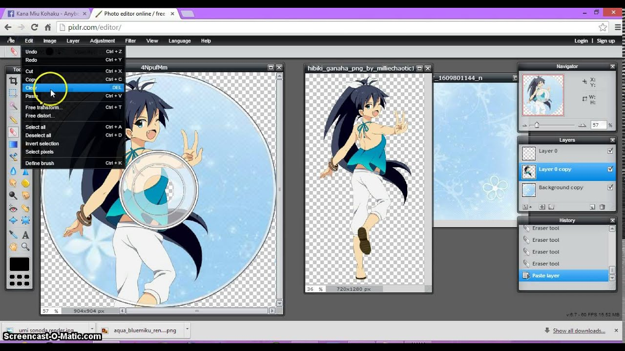 How to do a cd edit on pixlr kanas anime editing