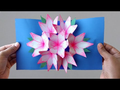 Pop Up Flower Card - Tutorial - DIY 🍉 - YouTube | 360x480