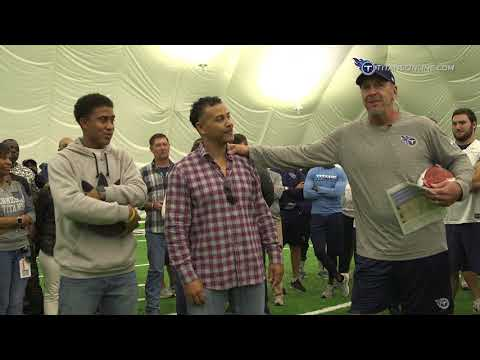Titans Surprise Blaine Bishop with a Special Honor