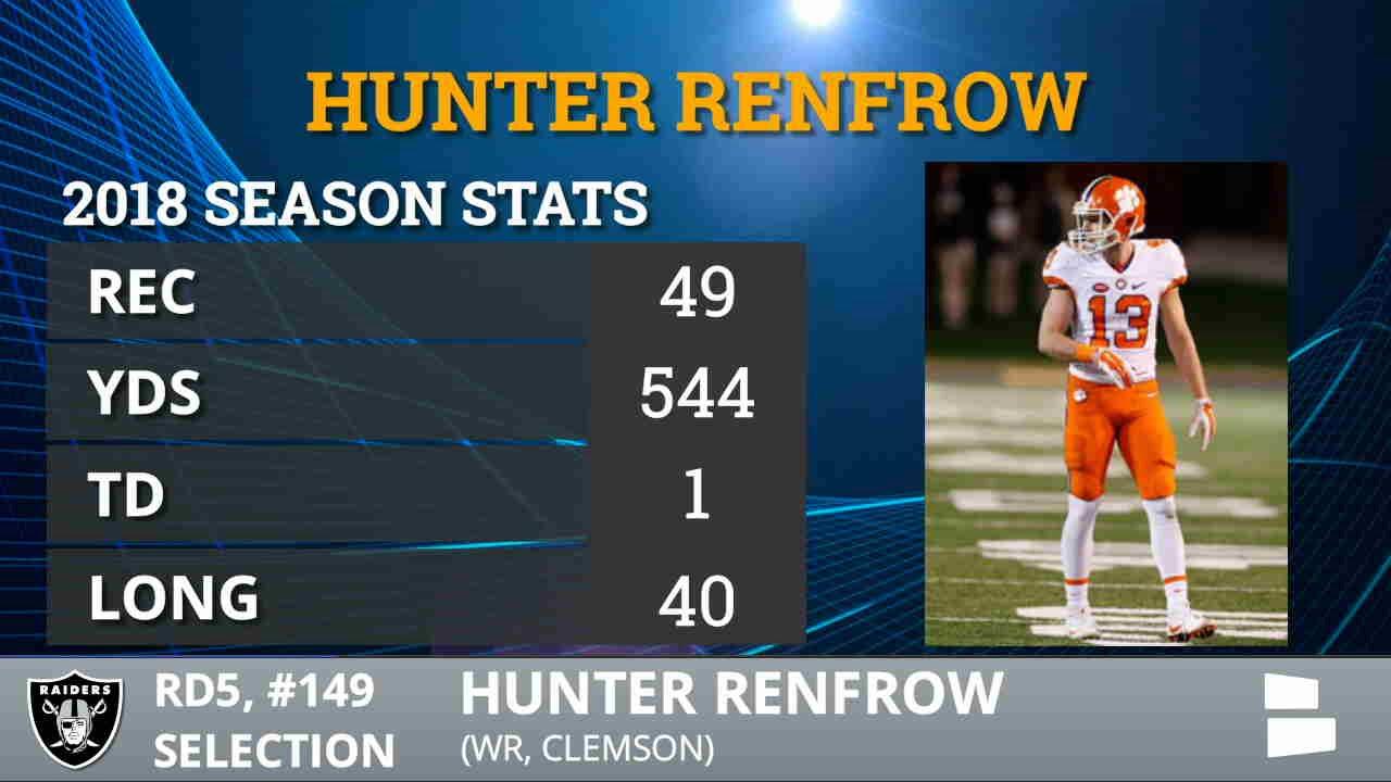 Oakland Raiders select Clemson WR Hunter Renfrow
