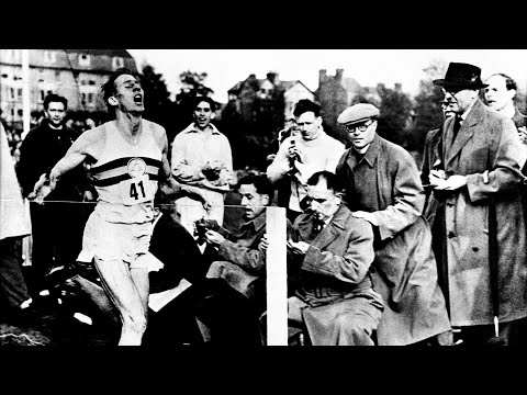 The moment Sir Roger Bannister made history