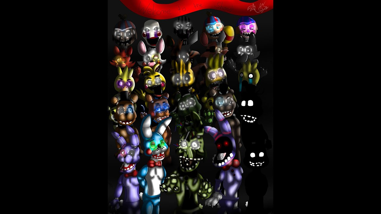 Five nights at freddy s 1 2 and 3 all animatronics speedpaint