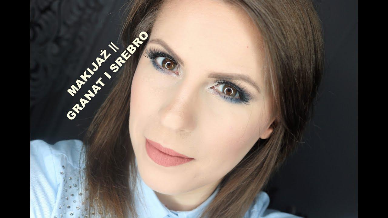 Makijaż Wieczorowy Granat I Srebro Youtube