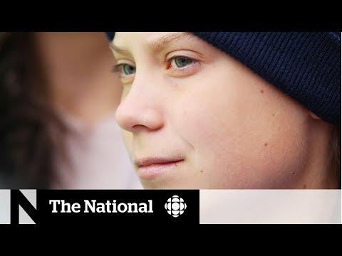 Greta met by supporters, critics in Alberta
