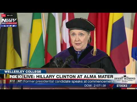 FNN: Hillary Clinton Delivers Commencement Speech at Wellesley College, Her Alma Mater