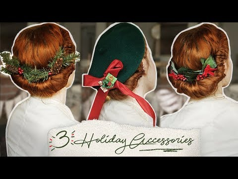 3 DIY Holiday Hair Accessories! || Vintage Style