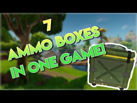 How To Search 7 Ammo Boxes In A Single Game on Fortnite!!