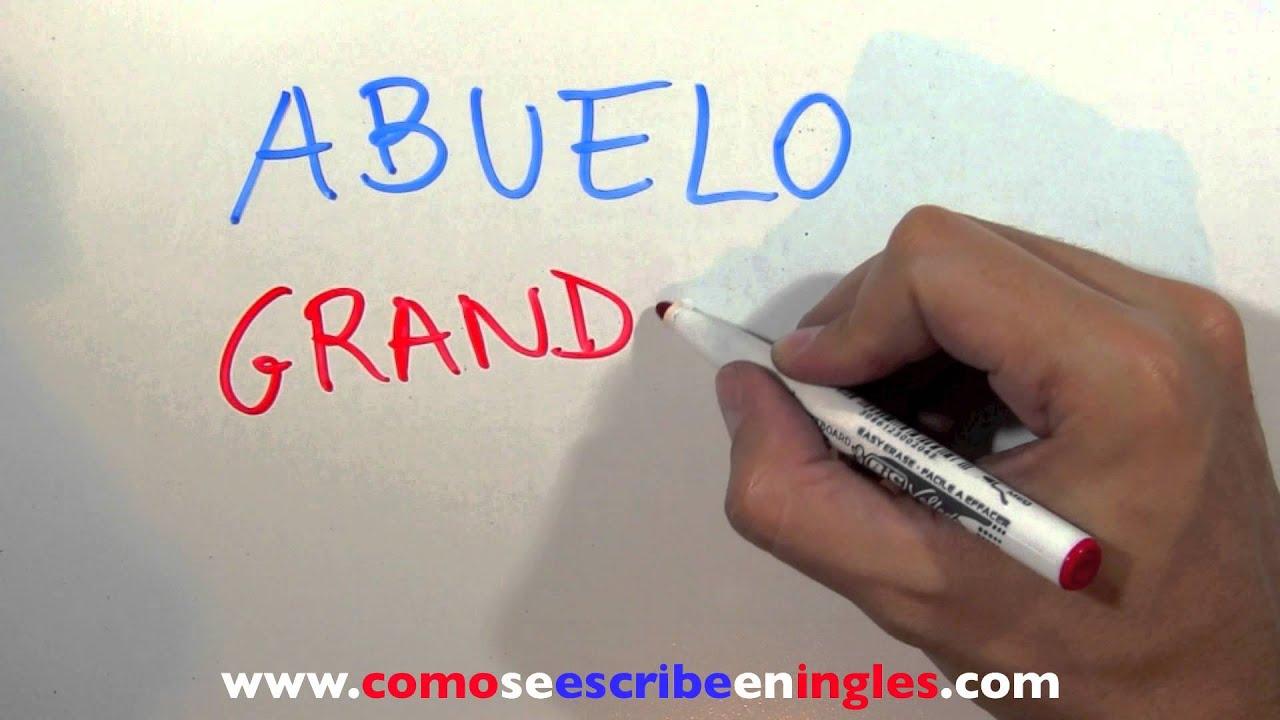 Aparador Dinn Jader Almeida ~ Cómo se escribe en inglés ABUELO YouTube