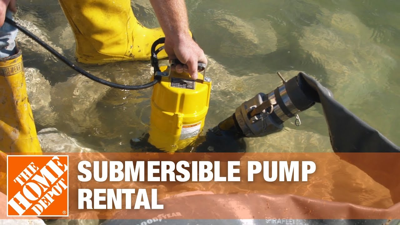 Submersible Pump Rental The Home Depot Rental Youtube