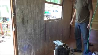 Started Paneling Second Wall Of My Tiny House Living Room S18