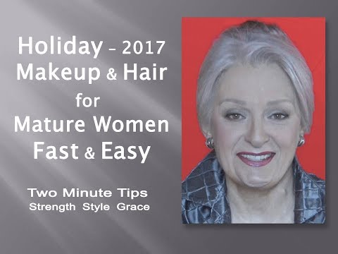 Holiday Makeup & Hair for Mature Women - Fast, Easy & Oh So Chic