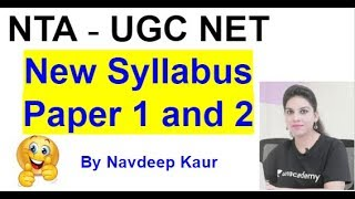 NTA NET June 2019 New syllabus Paper 1 and 2 all subjects