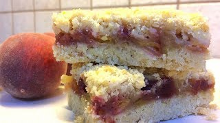 Крамбл пирог с персиками 🍰Peach Crumble Bars десер🍰Рассыпчатый пирог с персиками