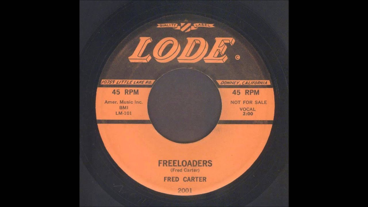 Fred Carter Freeloaders Rockabilly 45