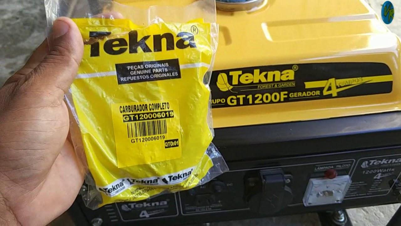 Carburador completo Gerador Tekna Gt1200