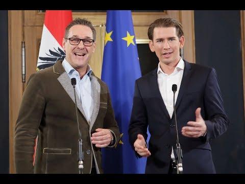 Pressekonferenz mit HC Strache und Sebastian Kurz: Koalition zwischen FPÖ und ÖVP fix!