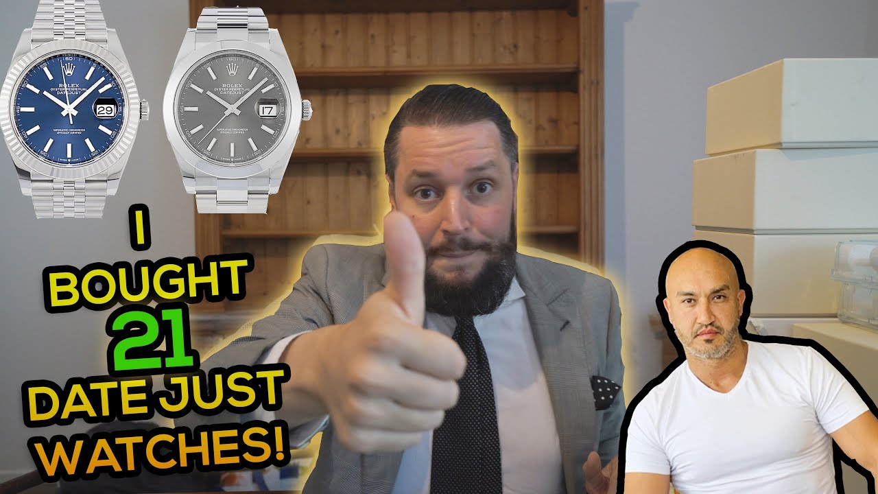 I bought 21 Rolex Datejust watches in one day 😮