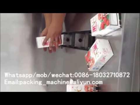 semi automatic tetra pak juice packing machine